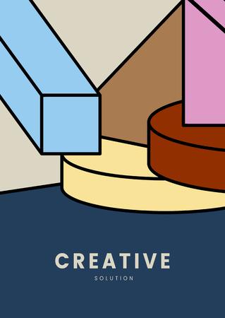 Creative colorful geometry graphic design