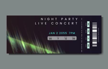 Nachtfeest live concert ticket vector