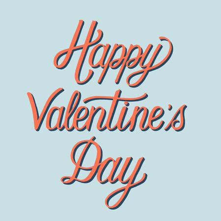 Handwritten style of Happy Valentine's Day typography Illustration