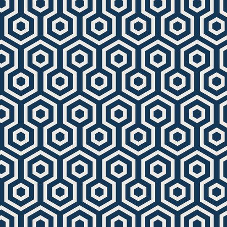 Seamless Japanese pattern with tortoiseshell motif vector Illustration