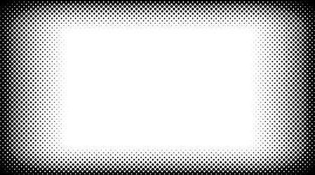 Black and white halftone background vector Vector Illustration