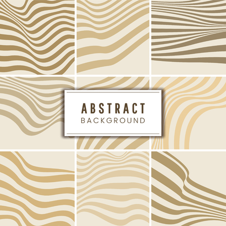 Collection of beige abstract background vectors
