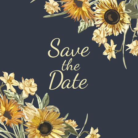 Save the date invitation mockup vector