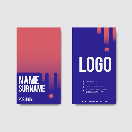 Creative modern retro business card design Illustration