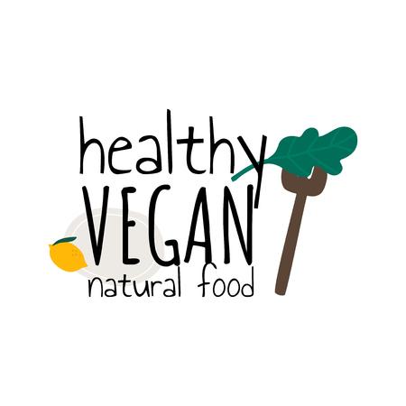 Healthy vegan natural food vector