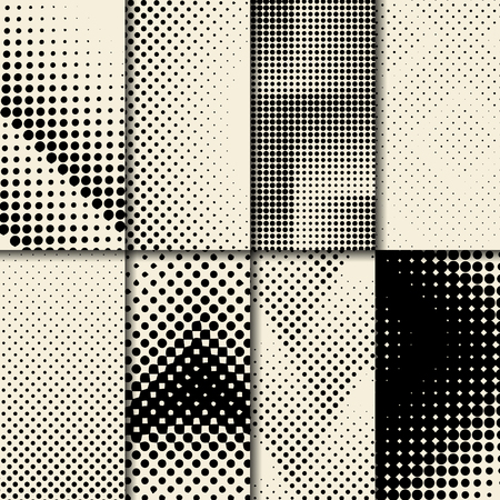 Black and beige halftone background vector Stock Illustratie