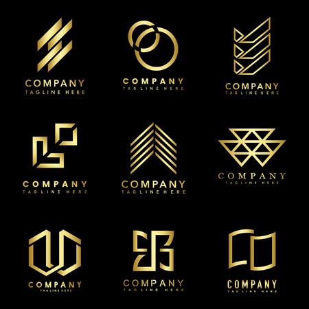Set di idee per la progettazione del logo aziendale vettoriale Logo