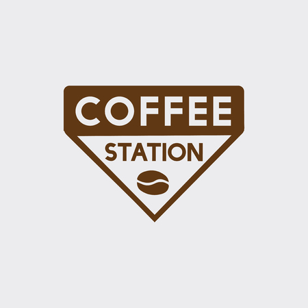 Logo of a coffee station vector