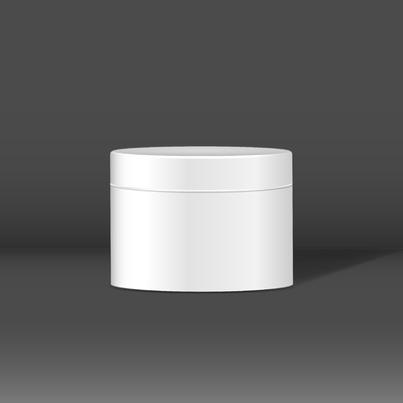 Beauty cream can mockup vector