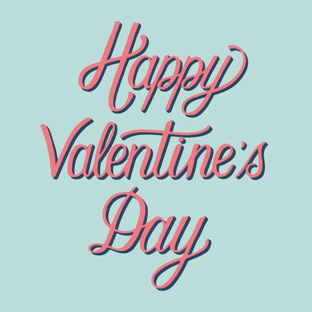Handwritten style of Happy Valentine's Day typography 일러스트