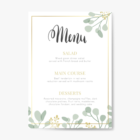Restaurant today's menu card vector