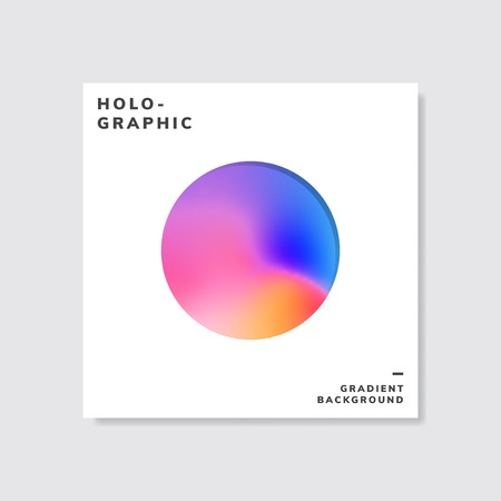 Colorful holographic gradient background design sample