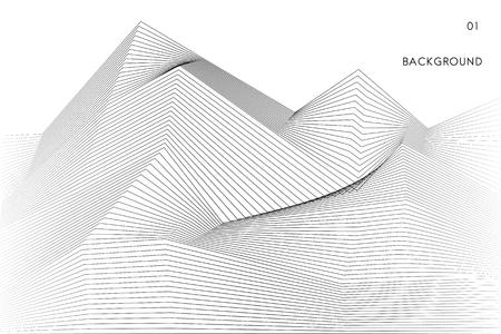 Data visualization dynamic wave pattern vector Ilustração