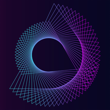 Streszczenie okrągły wektor elementu geometrycznego