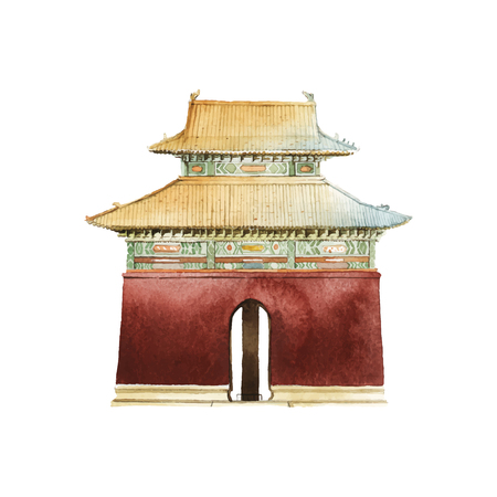 Ming tombs in China vector 일러스트