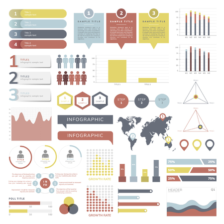 Set of business infograph vectors Illustration