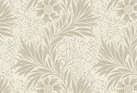 Marigold by William Morris (1834-1896). Original from The MET Museum. Digitally enhanced by rawpixel.  イラスト・ベクター素材
