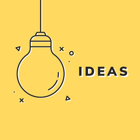 Black creative light bulb icon vector Vector Illustration