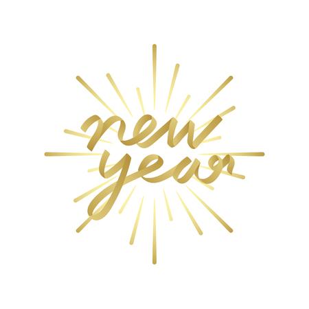 Happy new year 2019 badge vector Illustration