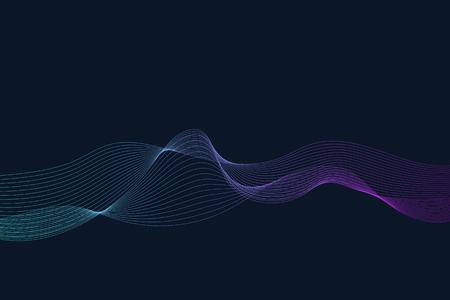 Data visualization dynamic wave pattern vector  イラスト・ベクター素材
