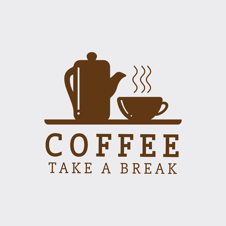 Take a break coffee vector Stock Illustratie