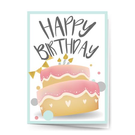 Happy birthday card design vector Reklamní fotografie - 125971115