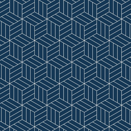 Seamless Japanese-inspired geometric pattern vector Banque d'images - 125971121