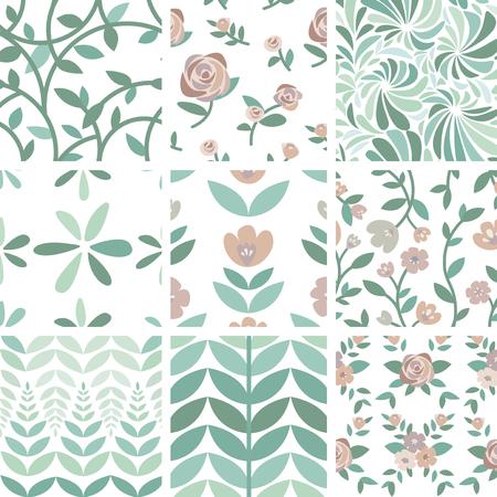 Set of hand drawn roses and plants illustration Standard-Bild - 125971122