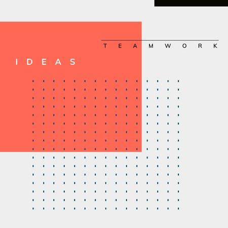 Minimal Memphis design teamwork poster vector Vectores