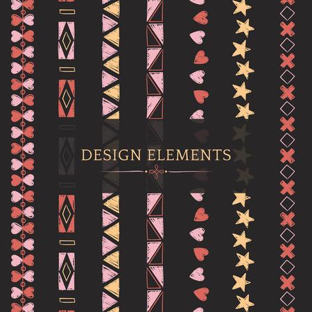 Divider line design elements vector collection Illustration