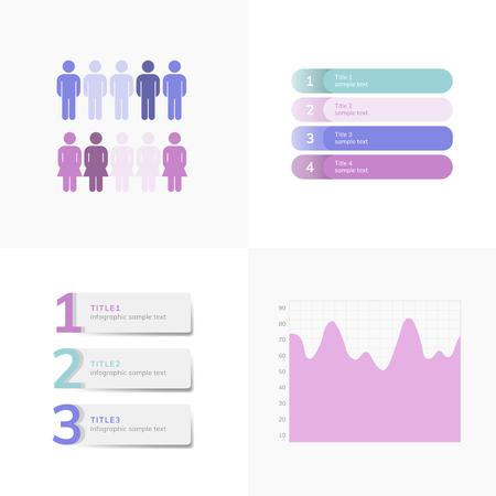 Set of business infograph vectors Illustration