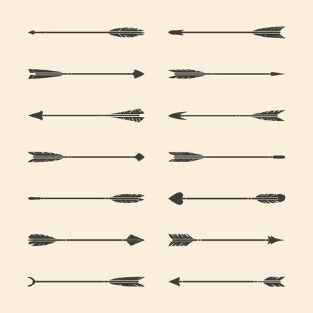 Set di vettori di frecce grigie alla moda Vettoriali