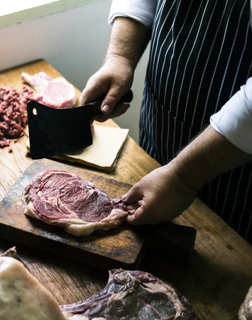 Cuts of fresh beef food photography recipe idea Imagens