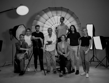 Portrait of a shoot production team Stok Fotoğraf
