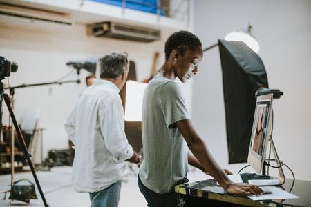 Artists working in a studio Stok Fotoğraf