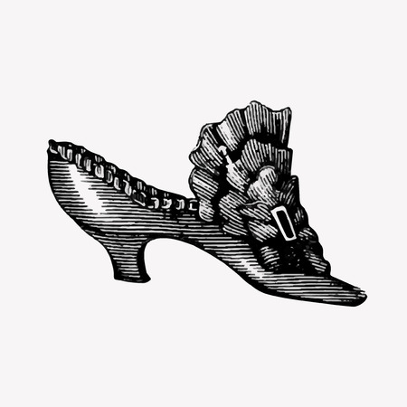 Drawing of vintage shoes