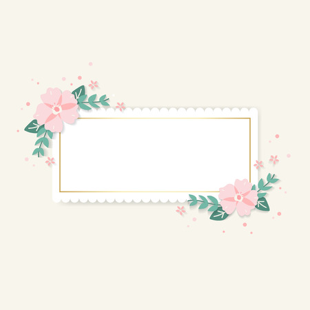 Spring floral frame design vector Иллюстрация
