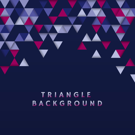 Colorful triangle patterned on blue background 向量圖像