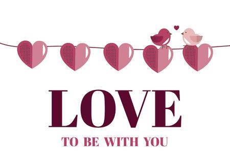 Vecteur de décoration de bannière de Saint Valentin