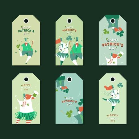 St. Patrick's Day celebration labels vector