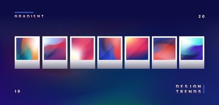 Colorful gradient trend element vector Illustration