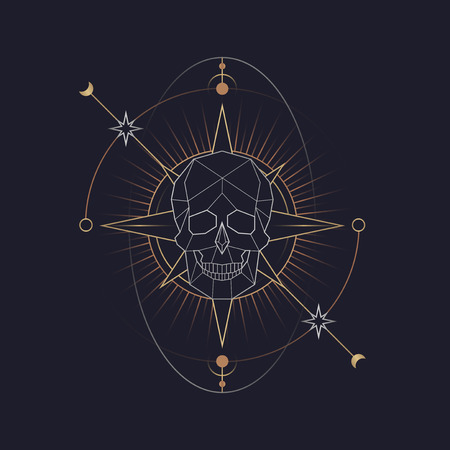 Vecteur de symbole de mort mystique géométrique