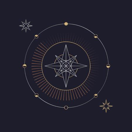 Vecteur de symbole mystique étoile géométrique Vecteurs