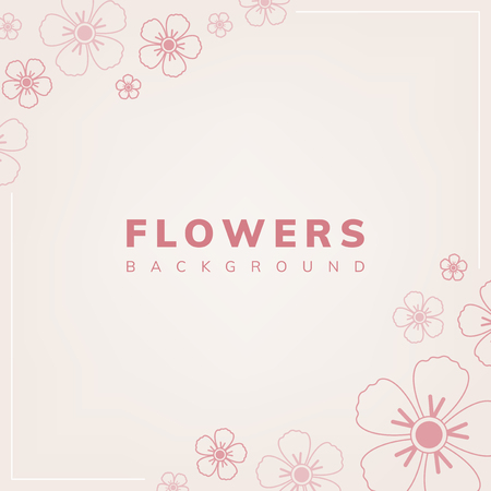 Floral pattern with a light pink background vector