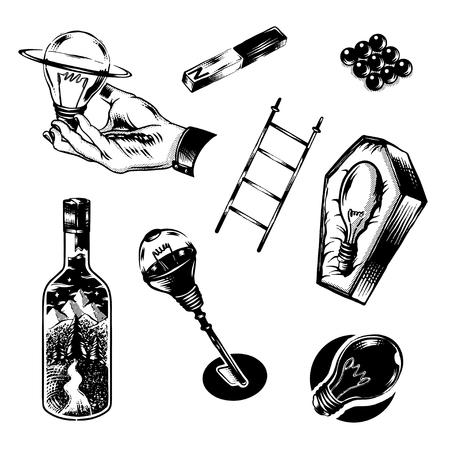 Light bulb graphic illustration icon Ilustracja