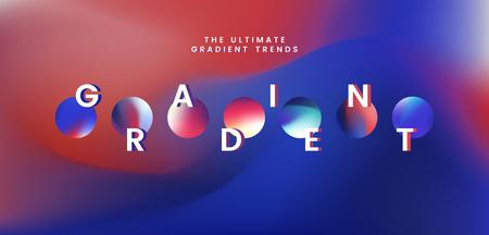 Colorful gradient trend element vector 向量圖像