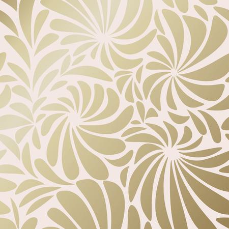 Gold botanical pattern background vector Illustration
