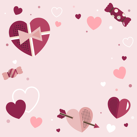 Valentine's Day blank background vector Illustration