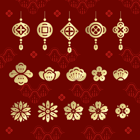 Chinese new year 2019 design 向量圖像