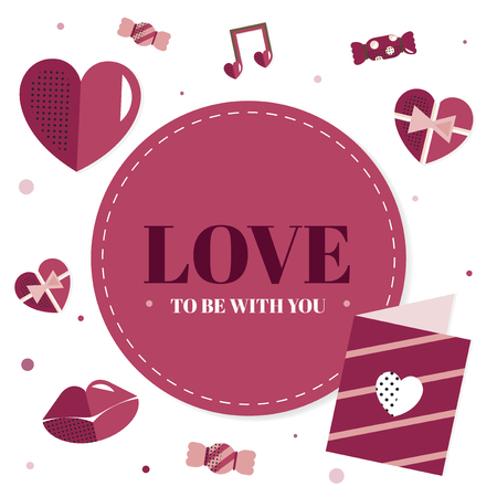 Valentine's Day blank background vector Foto de archivo - 115859244